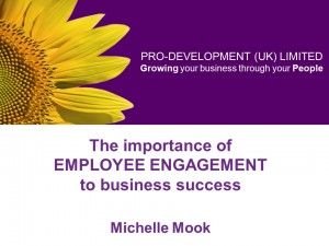 The importance of employee engagement title slide